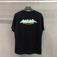 kunstberg großhandel-Palm Engel Mens-Sommer-T-Shirt Berg Druck Kurzarm Rundhals-beiläufige Art Designer-T-Shirt Asiatische Größe M-XL