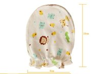 luvas de bebê animal venda por atacado-Bebê adora luvas anti agarramento recém-nascidos de cuidados do bebê Anti Luvas de raspadinhas crianças animal recém-nascido Mittens impressão Atacado