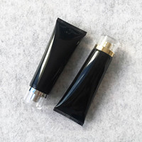 Wholesale hotel cosmetics resale online - 100g Black Plastic Cosmetic Cream Bottle ml Facial Cleanser Lotion Tube Hotel Supply Shampoo Packing Bottles