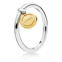 Wholesale celtic products resale online - NEW Sterling Silver Valentine s Day Shine Gold Medallion Of Love Ring Premium Product Original Jewelry
