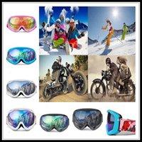 gafas de sol de esquí niebla al por mayor-Las capas dobles anti-vaho Gafas de esquí snowboard con máscara de invierno Motonieve Motocross Gafas de sol a prueba de viento Protección UV deporte al aire libre de los vidrios
