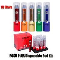 ingrosso kit batterie-Cartucce POSH PLUS monouso Dispositivo Pod Starter Kit 280mAh Batteria 2,0 ml Vape Svuotare Penna 10 Flavs PK Puff Bar Eon Stig