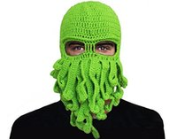 polvo de festa venda por atacado-Os chapéus manuais puros do fio de lãs do polvo do Weave mantêm o partido morno do Dia das Bruxas engraçado