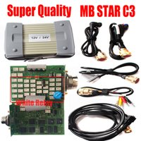 cables de multiplexor mb c3 star al por mayor-2019 Super C3 MB Star C3 Multiplexer mb sd connect relé blanco de 3 chips completo con herramientas de diagnóstico de cable Sin diagnóstico de HDD