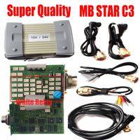 ingrosso cavo diagnostico stella c3-2019 Super C3 MB Star Multiplexer C3 mb sd connect compatto 3 chip full chip bianco con strumenti diagnostici cavo No diagnosi HDD