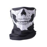 ingrosso sciarpe dei pc-5 PCS Per Lot Tattico Airsoft Sciarpa viso e collo Halloween Scheletro Patter Sciarpa Maschera mezza faccia Balaclava