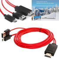 hdmi lg achat en gros de-Full HD 1080P Micro USB vers HDMI MHL vers HDMI Adaptateur Câble Adaptateur multimédia HDTV pour LG Android téléphones Samsung 11PIN