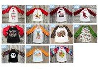 çocuklar yama gömlek toptan satış-Cadılar Bayramı Çocuk T-shirt Polka Dot fırfır Uzun Kollu Tee Çocuk Patch Kabak Pamuk tişört Bebek Giyim Noel Tişört A101001 Tops