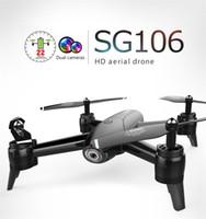 ingrosso fotocamera per elicotteri uav-SG106 UAV 22mins 1080P / 4K Flight Drone RC - RTF Flusso ottico / Altitude Hold HD Doppia fotocamera Gesto Foto RC elicottero