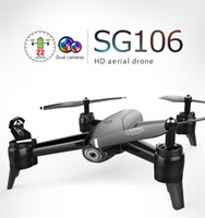 Wholesale rtf channel helicopter for sale - Group buy SG106 UAV mins P K Flight RC Drone RTF Optical Flow Altitude Hold HD Dual Cameras Gesture Photo RC Helicopter