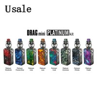 Wholesale mods vaping for sale - Group buy VOOPOO Drag Mini Platinum Kit W mAh with UFORCE T2 Tank Uforce N1 and P2 Coils thread Mod Vaping Original
