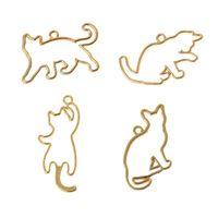 yaramaz kediler toptan satış-4 Adet Yaramaz Kediler Boş Çerçeve Kolye Açık Çerçeve Ayarı UV Reçine Takı DIY Epoksi Reçine Charm Yeni