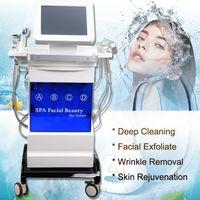 ingrosso apparecchiature di bellezza per getto di ossigeno-macchina per il viso professionale con idra sottovuoto idro microdermoabrasione dermoabrasione acqua ossigeno jet peeling 5 in 1 attrezzatura per la bellezza del viso