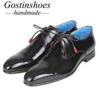 zapatos derby hechos a mano al por mayor-