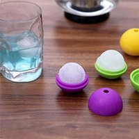 Wholesale silicone ball cake mold resale online - Football Ice Cube Tray Creative Silicone Soccer Mold Russia World Cup Ball Ices Maker Moulds Durable we Y