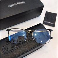 eski kutu toptan satış-Gözlükler çerçeve Titanyum çerçeve gözlük çerçeve antik yollar óculos de grau erkekler ve kadınlar miyopi gözlük çerçeveleri ile kutu 145