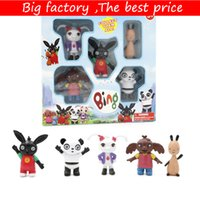 bunny kutuları toptan satış-Bing Bunny Aksiyon Figürleri Oyuncaklar kutusu ambalaj ile Gel 5 adet / takım Bing Bunny Doll oyuncaklar