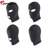 bdsm sex hood toptan satış-Morease 4 Stil Fetiş Unisex BDSM Hood Maske Siyah Ağız Göz Köle Hood Çift Için Seks Ürün Oyuncaklar Esaret Yetişkin Oyunu Kadınlar C18112701