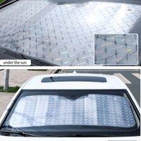 wärmedämmung für autos großhandel-Verdicken Auto Frontscheibe Sonnenschutz Laser Muster Sonnenschutz Wärmedämmung Windschutzscheibe Sonnenschutz Faltbare SUV Auto Universal