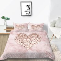 Wholesale girls bedding sets twin purple for sale - Group buy Diamond Love Bedding Set Luxury Sweet Romantic Duvet Cover For Girl Queen King Single Double Twin Full Soft Bed Cover with Pillowcase