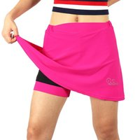 Women Breathable 2-in-1 Cycling Skort with Gel Padded Liner MTB Bike Shorts Quick Dry Athletic Sports Skirt