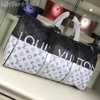 ingrosso borsa a tracolla bianca nera-2019 M43412 New Real Leather Rainbow Bianco / nero 50 Borse a tracolla Messenger bag a tracolla