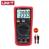 Wholesale uni testers resale online - UNI T Multimeter UT136B UT136C Digital Multimeter AC DC V A Volt Amp meter Temperature NCV Tester Large LCD Dual Display