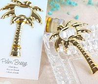 baumflaschenöffner großhandel-Wein Flaschenöffner Hochzeit Gunsten Ananas Ahorn Kokosnuss Baum Form Öffner Kreative Party Souvenir Gold Rose Gold