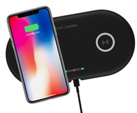 Wholesale iphone charge base for sale – best 2 in Dual QI Wireless Charger Base Fast Charging Pad Quick Charge Phone Charger For iPhone X XS Samsung S9 S8 Edge Note9 Huawei P30