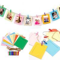 ingrosso parete di foto dei bambini-Carta da appendere per uso domestico: cornici colorate, tipi di foto, portafoto, portafoto, foto fatte a mano, cornice, decorazione, LJJQ176