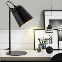 Wholesale nickel paint resale online - Modern art deco painted Nordic style creative desk Lamps E27 LED V Table Lamp for Office Reading bedside home bedroom study