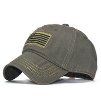 amerikan bayrağı snapback şapka toptan satış-Pamuk Beyzbol Şapkası Erkekler Kadınlar için Yaz Ayarlanabilir Snapback Ordu Kamuflaj Taktik Kapaklar Güneş Şapka Spor Açık Amerikan Bayrağı