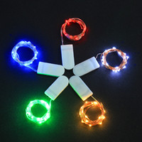 Wholesale battery light strings for sale - Group buy LED Copper Wire String Lights CR2032 Button Cell Battery Rice String Lights M LED Fairy Lamps for Christmas Wedding Decoration