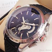 relógio taquímetro automático venda por atacado-Famosos Relógios Automáticos Mecânicos Certificados Cronômetro TAG Grande Carrera CAUBRE 36 taquímetro Relógios de luxo Presente 43mm swiss Relog Feito