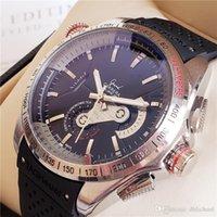 izgaraları izle toptan satış-Ünlü Mekanik Otomatik Saatler Sertifikalı Chronometre ETIKETI Grand Carrera CAUBRE 36 takometre Relógios de luxo Hediye 43mm İsviçre Yapılan Relog