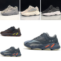 Wholesale children shoes for sale - 2018 Kids Shoes Kanye West Wave Runner Running Shoes Boy Girl Trainer Sneaker Sport Shoe Children Athletic Shoes