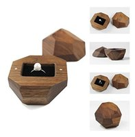 Wholesale post box wood for sale - Group buy Retro Creative Walnut Wooden Ring Box Storage Case Wedding Engagement Ring Jewelry Display Holder Ceremony Supplies Marriage Gift Packaging