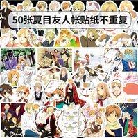 ingrosso pvc giapponese-50 pc / lotto misto Skateboard Adesivi Anime giapponese per auto portatile casco Adesivi Pad della bici della bicicletta del motociclo PS4 Telefono Notebook Decal Pvc