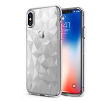teléfonos celulares g2 al por mayor-Funda transparente para iPhone XS Max 8 7 Samsung S9 S8 S10 Textura ultra brillante de diamante Funda transparente de TPU Cubierta posterior a prueba de golpes