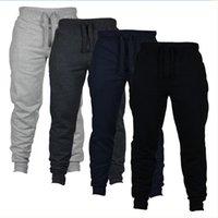 ingrosso pantaloni da jogging ragazzi-Pantaloni da jogging a 4 colori Pantaloni skinny da uomo Nuovi pantaloni lunghi a tinta unita Pantaloni da running casual da uomo