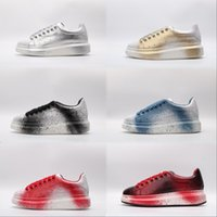 Wholesale wedding gold platform shoes resale online - Mens Beat Designer Shoes trainers Reflective M Leather Platform Sneakers Womens Flat Party Wedding Casual Shoes Suede Sports Sneakers