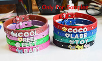 Wholesale dog collars sliding letter for sale - Group buy 10pcs mm mm Mixed Color Crocodile PU Leather Pet Dog Collar Fit DIY Pet Name by using mm Slide Letter Charm