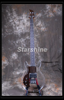 pescoços de baixo venda por atacado-Starshine Mão Esquerda Elétrica Bass Guitar DK-LD10 Acrílico Corpo Maple Neck Rosewood Pickguard