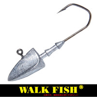 Wholesale 14g lures online - Walk Fish Head Hooks g g g g g g Lead Head Hook Lure Hook Jig Head Multicolor Fishing Tackle Hooks HH021