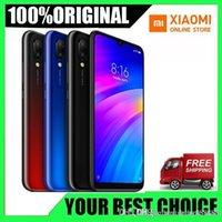 телефон 32gb оптовых-Новый оригинальный Xiaomi Redmi 7 3GB RAM 32GB ROM Мобильный телефон Snapdragon 632 Octa Core 12MP 6.26