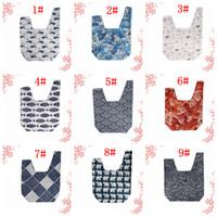 pochette poignet achat en gros de-9 styles sac pochette poignet ancien style japonais mini sac à main fourre-tout cadeau cadeau poignet sacs support de téléphone nuage vague sacs à main FFA2892-1