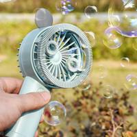 Wholesale fan shaped resale online - Bubble Mini Fan Portable Travel Outdoor Handheld Fan with Night Light Shape Bubble Small Fan Party Favor OOA8017