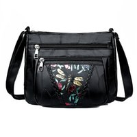 bolsos de libélula al por mayor-Bolsas de hombro del cuero genuino de la libélula imprime el bolso para las mujeres señoras de Crossbody diseñador de bolsos de lujo bolso femenino 2019 Nuevo