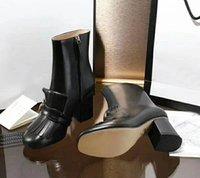 sandalias de plataforma para mujer al por mayor-Bota de mujer de moda Plataforma de cuero de vaca de invierno Diapositivas para mujer Tacones altos Zapatos casuales Botines Sandalias de envío gratis