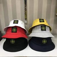 ağzı kesilmiş bezelye toptan satış-6 renkler SI kova nakış şapkalar açık kapaklar erkekler kadınlar unisex kasketleri güneş şapka pamuk cimri ağız şapka